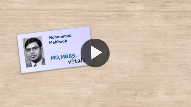 Dr Mohammad Mahboob Video Profile Internal Medicine In
